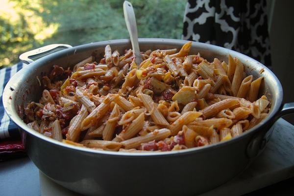 Tomato & Artichoke Penne // shutterbean
