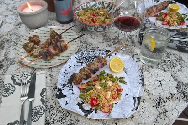 Asparagus+ Tomato Basil Couscous // shutterbean