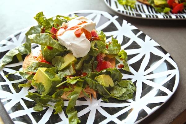 Chicken Tostada Salad // shutterbean