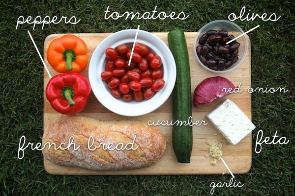 Grilled Greek Panzanella // shutterbean