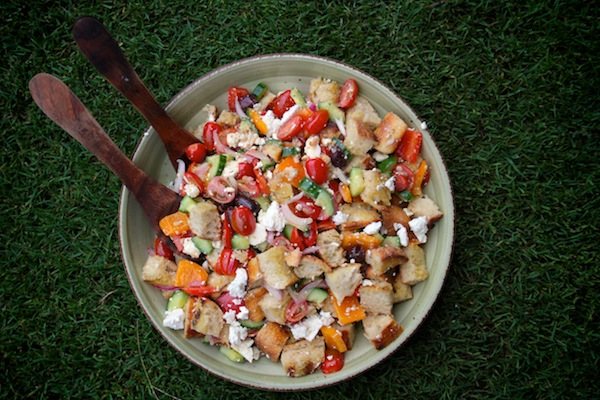 Grilled Greek Panzanella