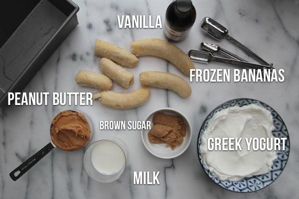 Peanut Butter Banana Frozen Yogurt // shutterbean