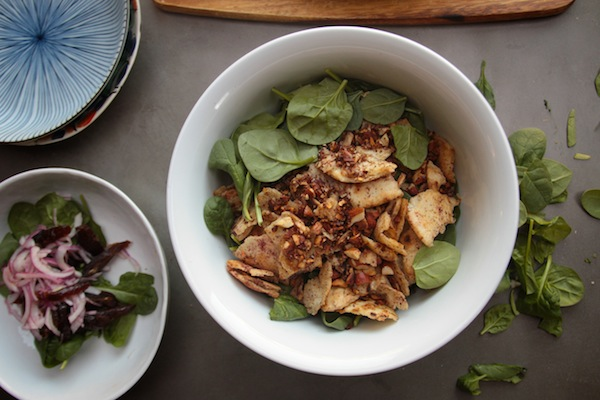 Spinach Salad with Dates & Almonds // shutterbean