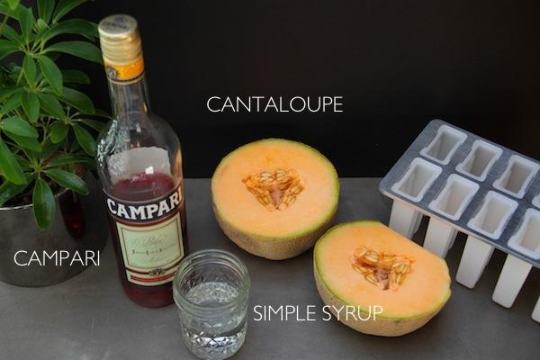 Campari Cantaloupe Popsicles // shutterbean