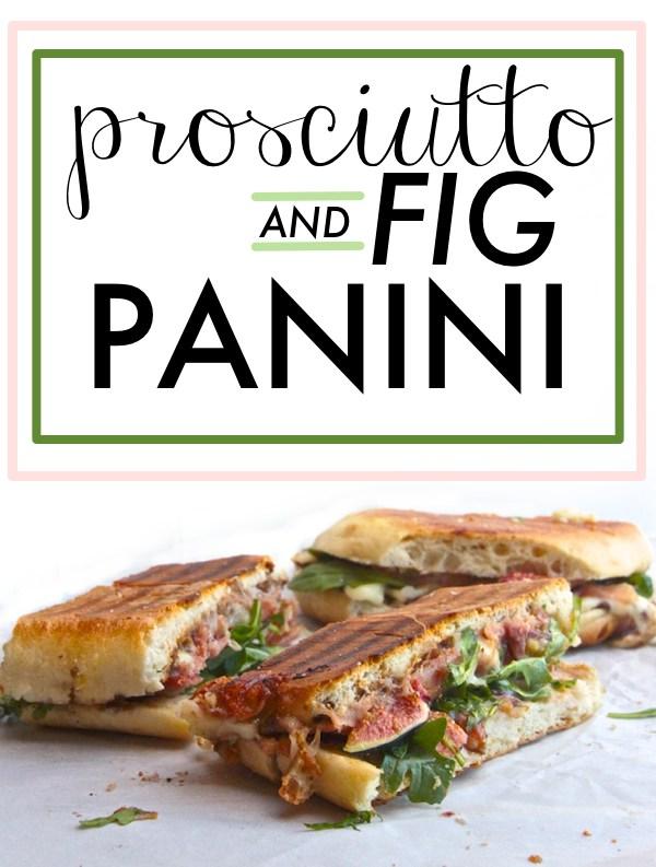 Prosciutto & Fig Panini