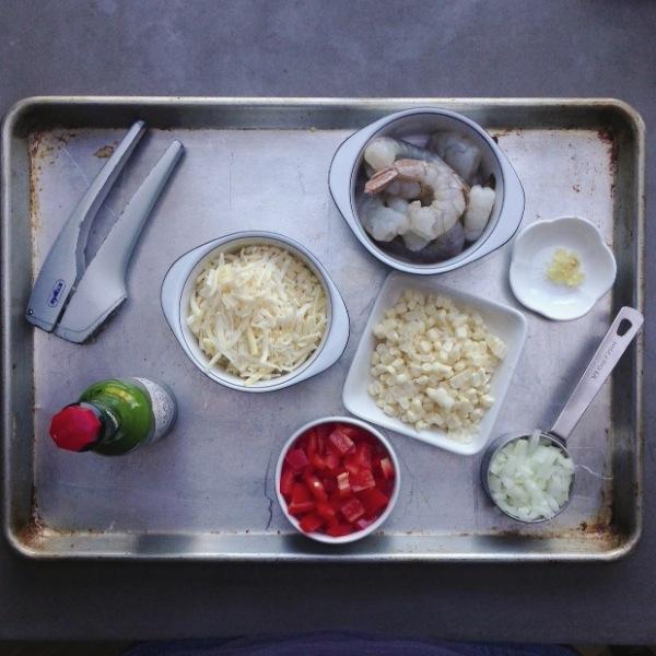 Shrimp Corn & Pepper Quesadillas // shutterbean