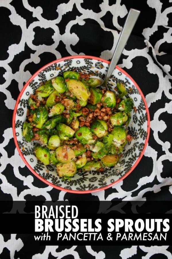Braised Brussels Sprouts w/ Pancetta