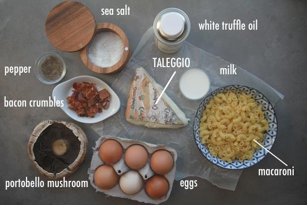 Pasta Frittata with Taleggio & Mushrooms // shutterbean