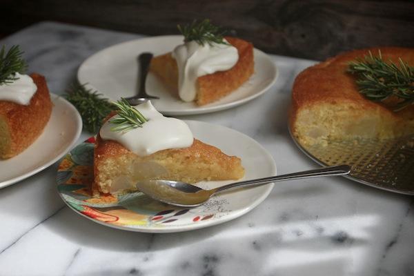 Pear Cornmeal Cake // shutterbean