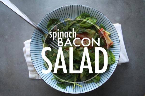 Spinach Bacon Salad // shutterbean