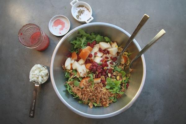 Pear Cranberry Arugula Salad // shutterbean