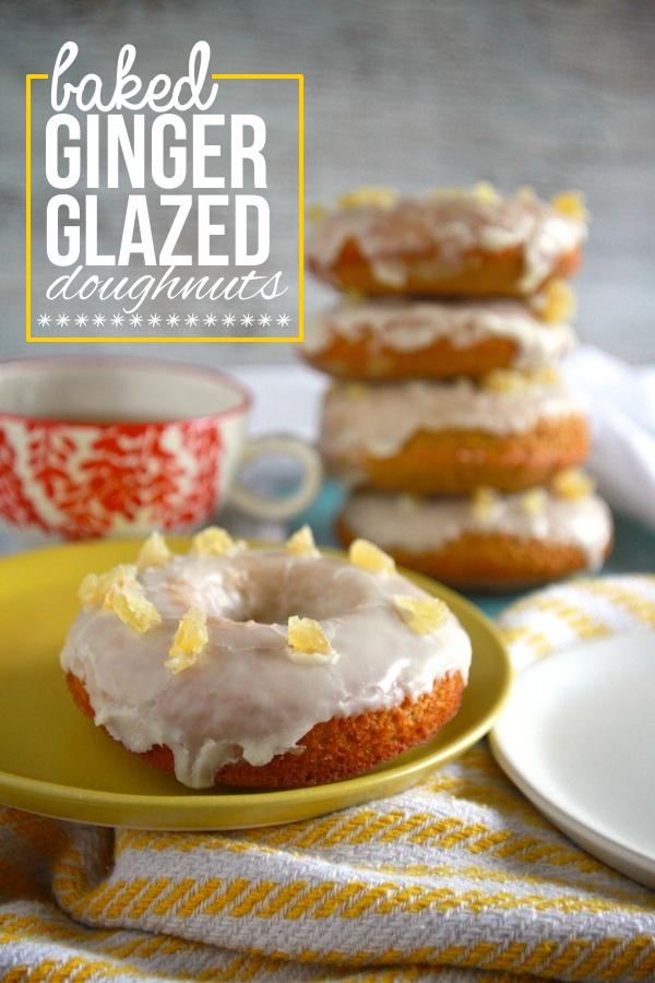 Baked Ginger Glazed Doughnuts