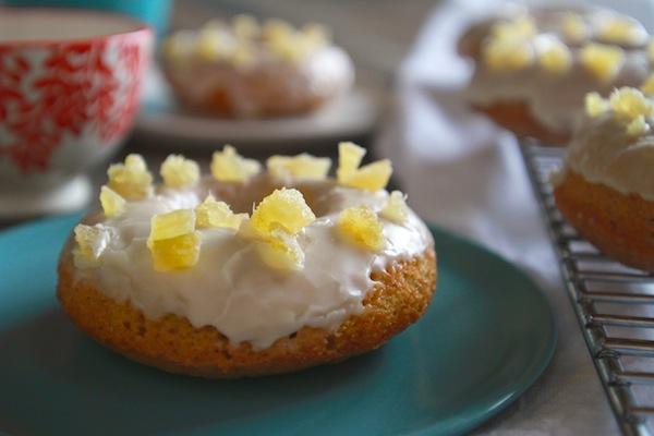 Baked Ginger Glazed Doughnuts // shutterbean