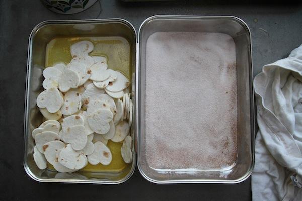 Heart Shaped Cinnamon Sugar Tortilla Chips // shutterbean