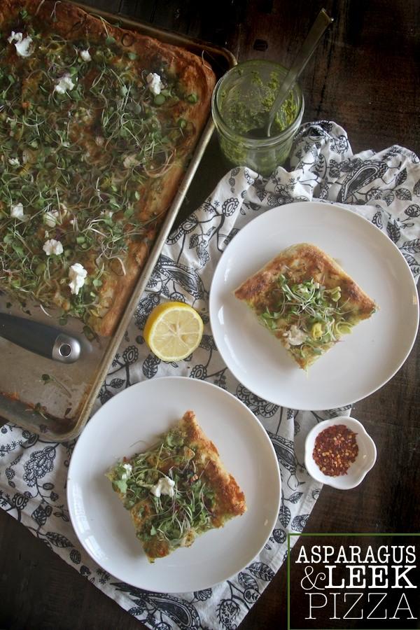 Asparagus & Leek Pizza