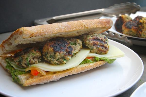 Grilled Turkey Meatball Subs // shutterbean