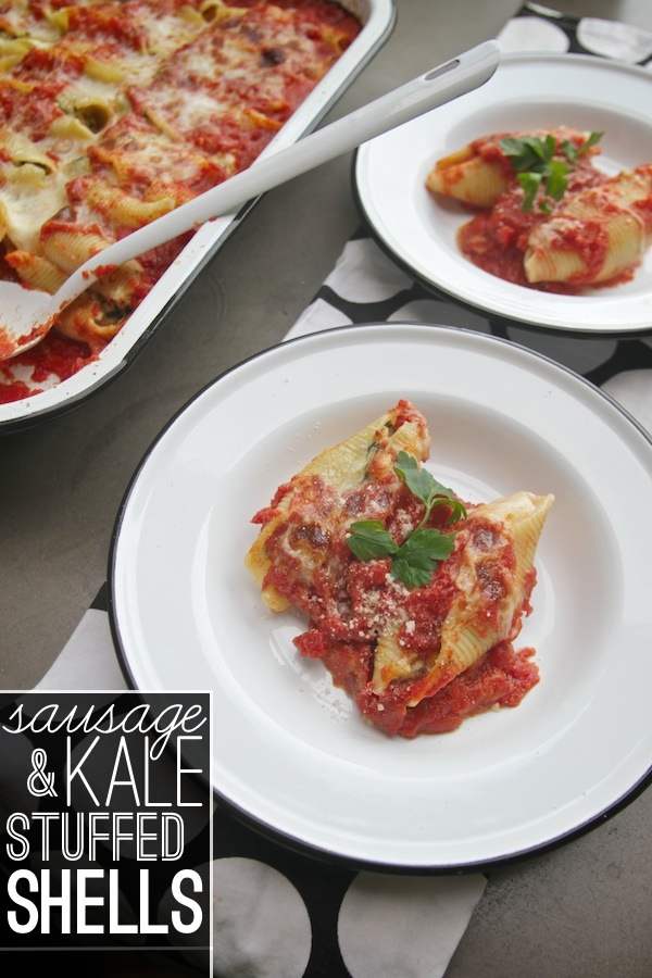 Sausage & Kale Stuffed Shells
