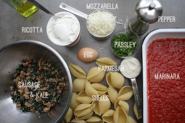 Sausage & Kale Stuffed Shells // shutterbean