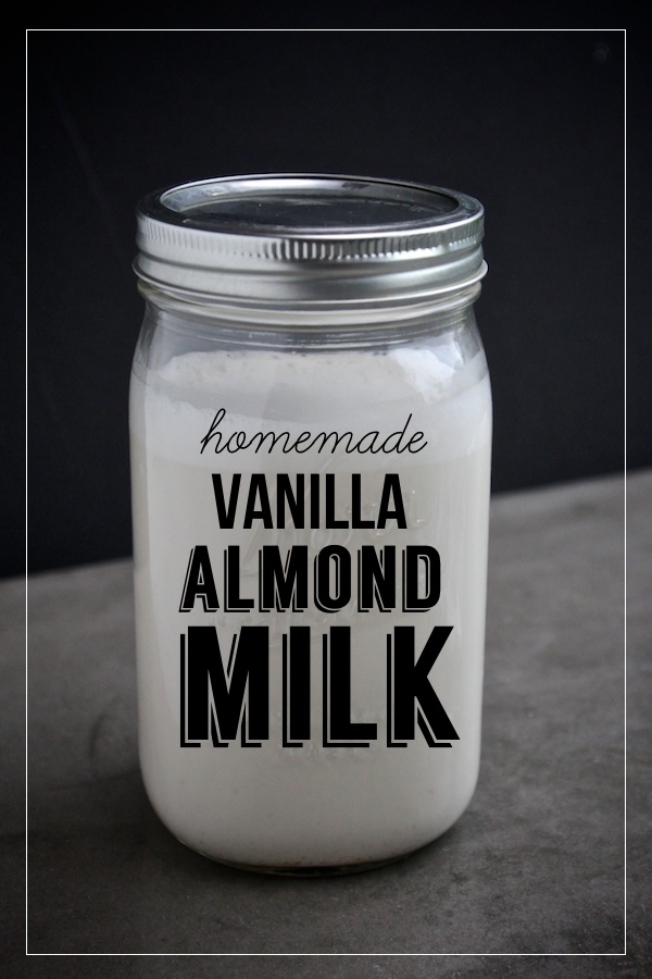 Homemade Vanilla Almond Milk