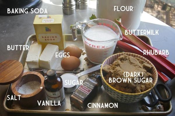 Rhubarb Coffee Cake // shutterbean