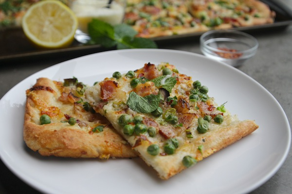 Bacon & Pea Pizza // shutterbean