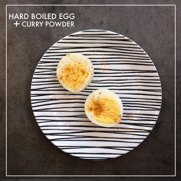 Hard Boiled Egg + Curry Powder