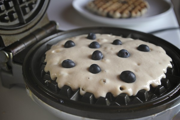 Gluten Free Blueberry Waffles // shutterbean