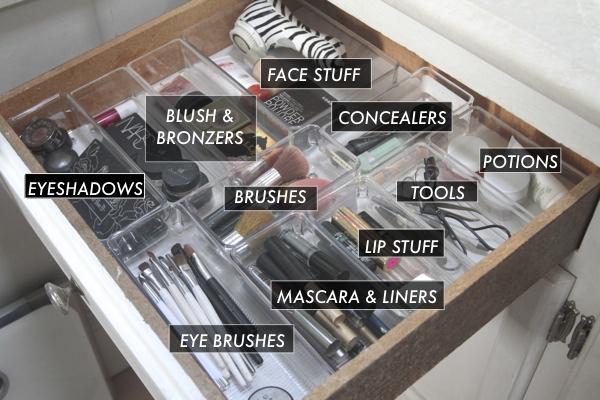Organized Makeup Drawer// shutterbean