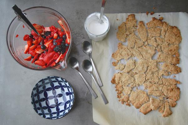 Dairy-Free Mixed Berry Crisp // shutterbean