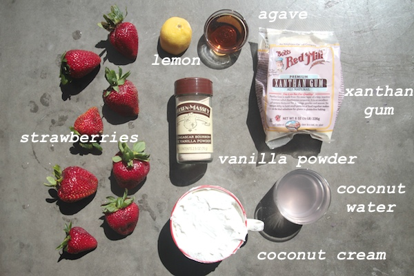 Strawberry & Coconut Ice Cream // shutterbean