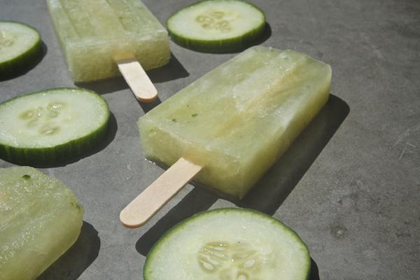 Cucumber Ginger Gin Popsicles // shutterbean