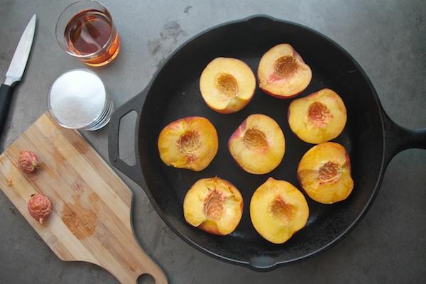 Roasted Peaches in Amaretto // shutterbean