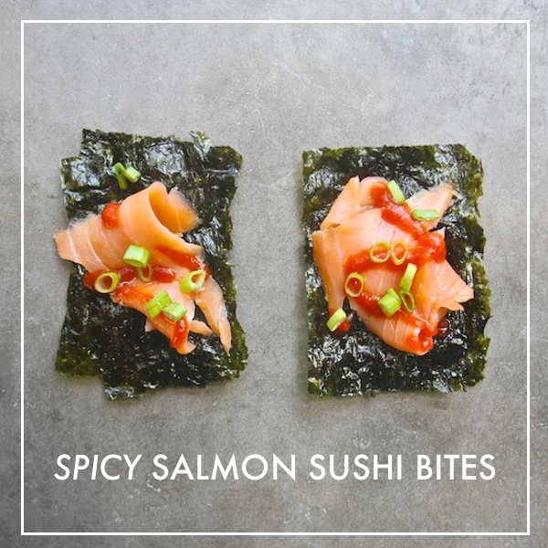 Spicy Salmon Sushi Bites