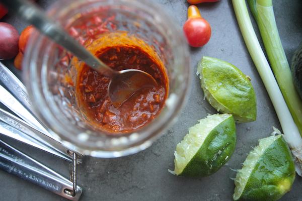 Spicy Corn Tomato Avocado Salad // shutterbean