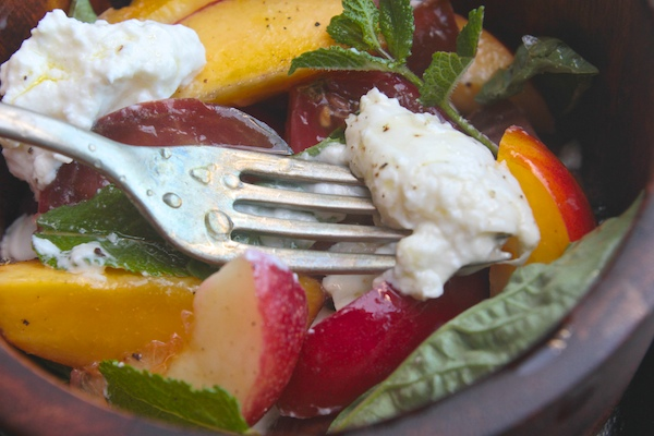Nectarine Caprese Salad // shutterbean