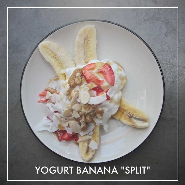 "Yogurt ""Banana Split"""