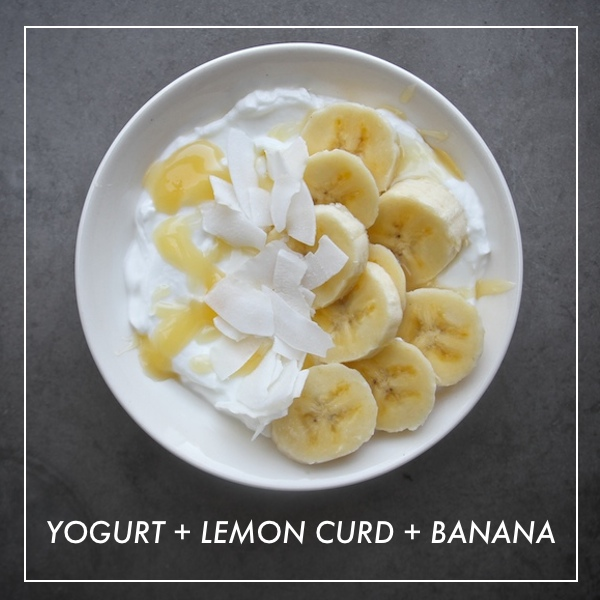 Yogurt + Lemon Curd + Banana
