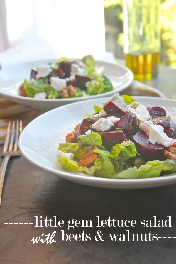 Little Gem Lettuce Salad with Beets & Walnuts