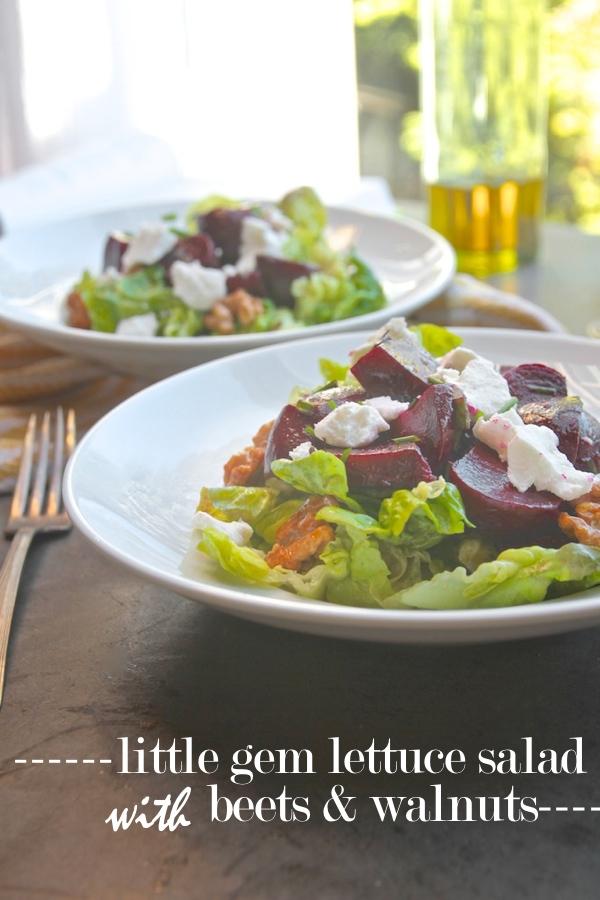 Little Gem Lettuce Salad with Beets & Walnuts // shutterbean