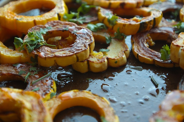 Sweet & Sour Roasted Delicata Squash // shutterbean