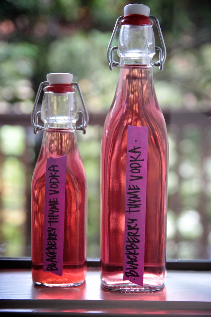 Blackberry Thyme Infused Vodka // shutterbean