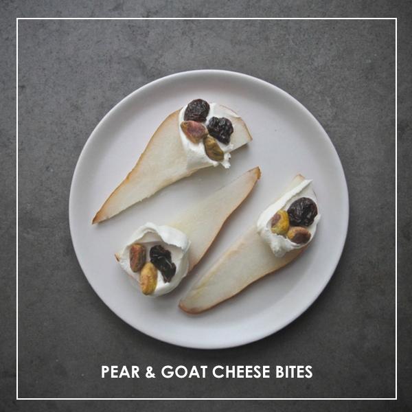 Pear & Goat Cheese Bites // shutterbean