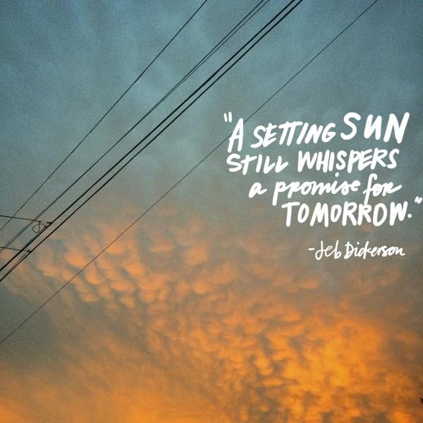A setting sun // shutterbean