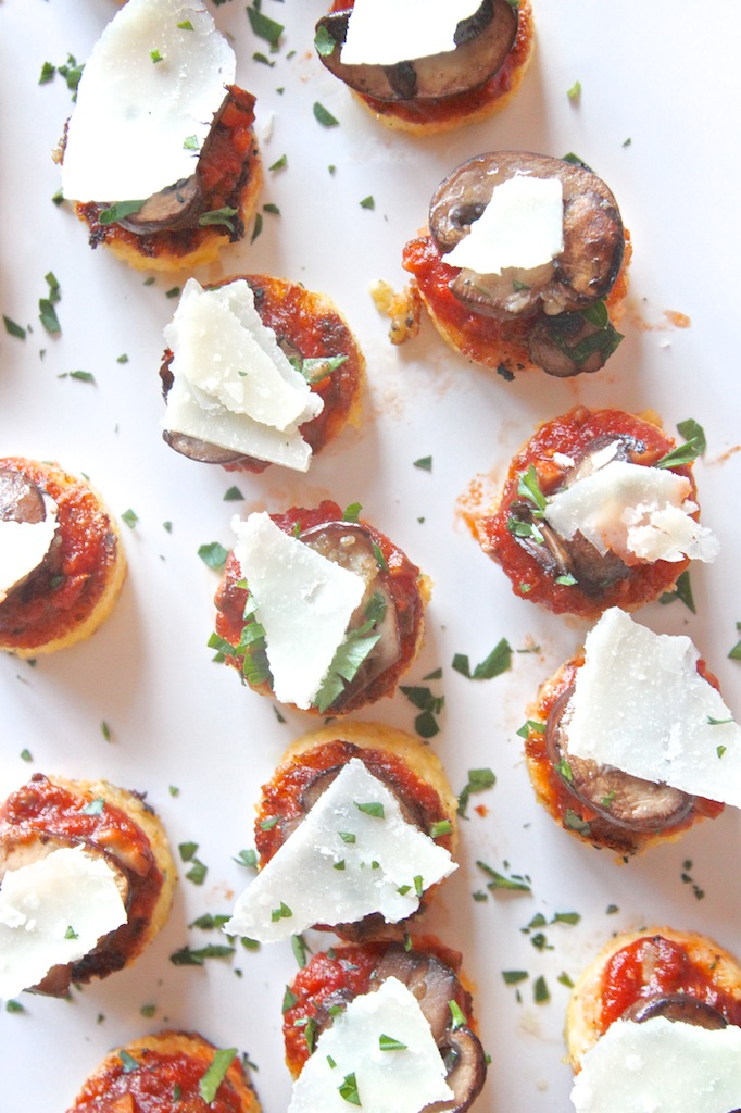 Mushroom Polenta Bites // shutterbean