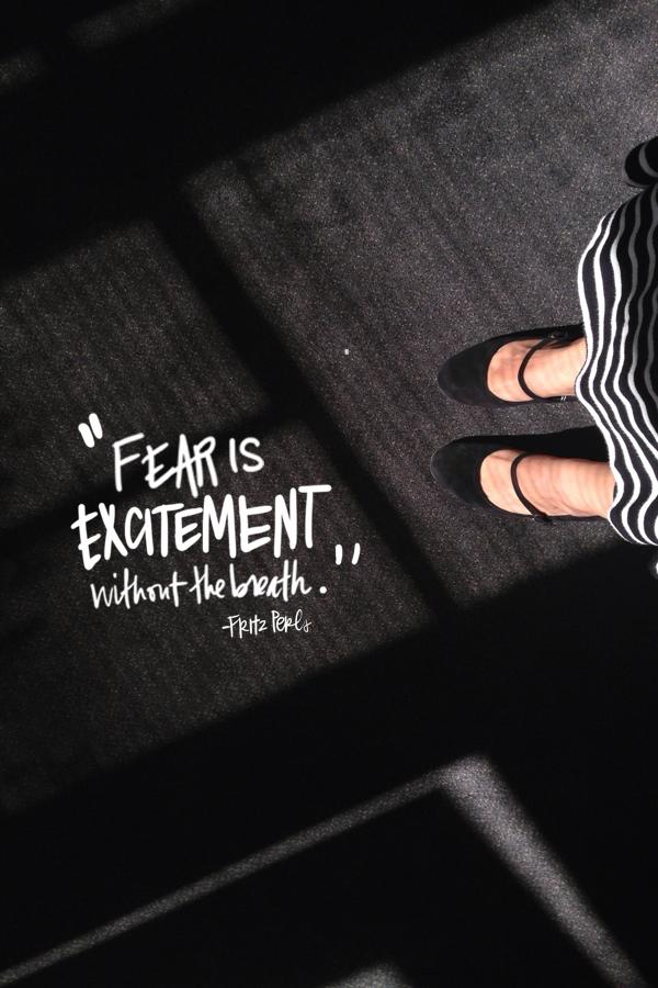 Fear is excitement // shutterbean