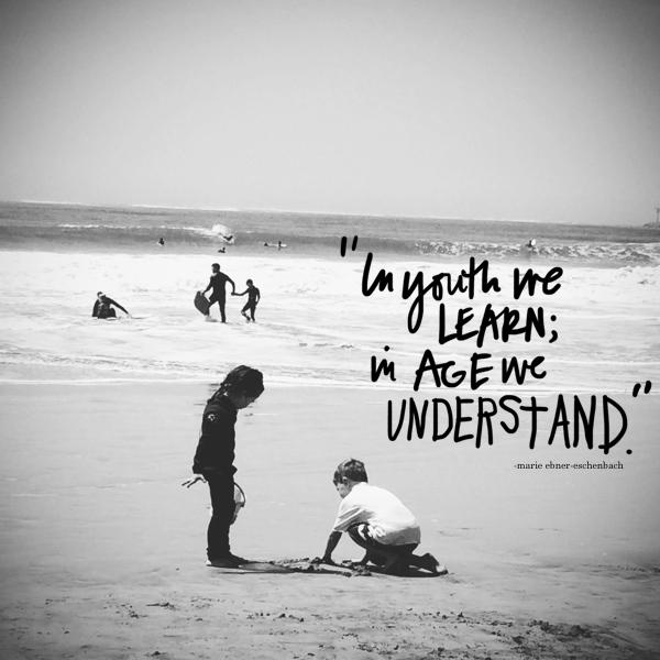 In youth we learn // shutterbean