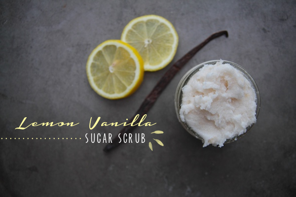 Lemon Vanilla Sugar Scrub // shutterbean