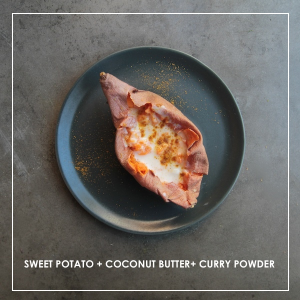 Sweet Potato + Coconut Butter + Curry Powder
