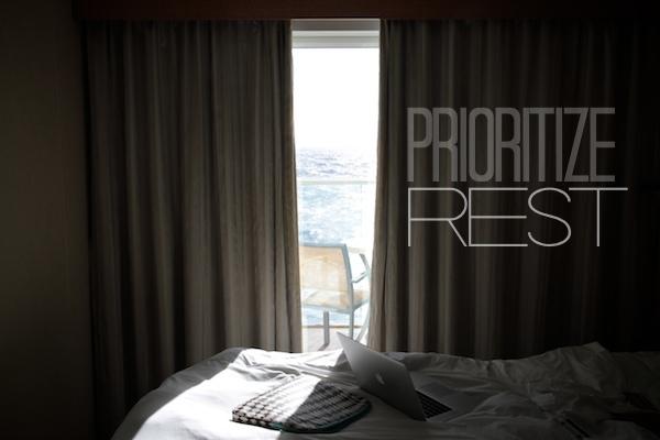 Prioritize Rest // shutterbean