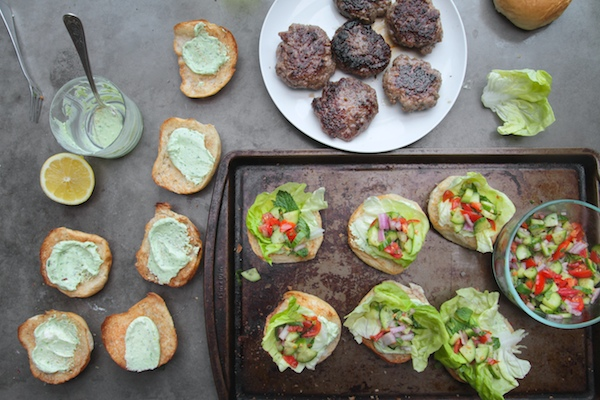 Greek Lamb Sliders // shutterbean